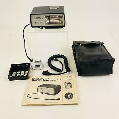 Asahi Pentax Super-Lite Electronic Flash With Extras & Operating Manual Complete