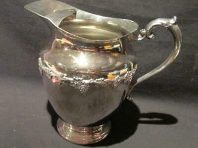 Majestic Old English Reproduction Vintage Silver Plate SPBM690 Pitcher