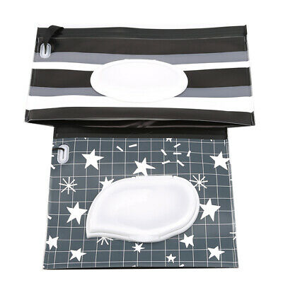 Wet Wipe Pouch Travel Portable Wipes Holder Case Refillable Wet Wipe Bag Z