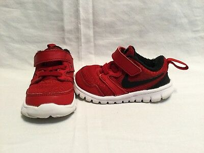 2ec017eebe33 Nike Flex Experience 3 Infant Toddler Boys Black red Shoes--size 5