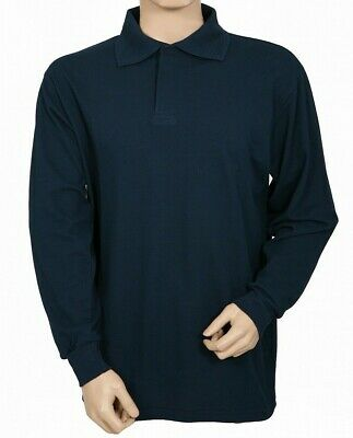 Protal Fire Retardant AntiStatic  Long Sleeved Polo Shirt Navy FR200 Arc