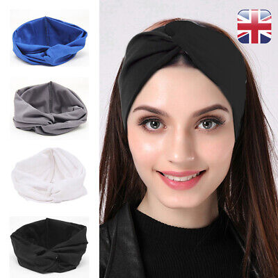 Stretchy Twist Knot Sport Stretch Headband Turban Elastic Head Hair Band Soft UK