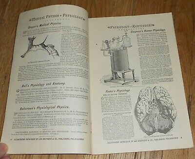 1889 Antique Medical & Surgical Book Catalog Published by Lea Brothers Phila