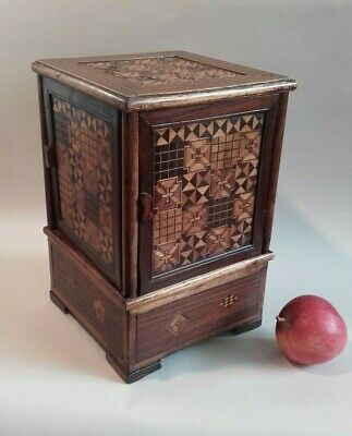 Antique Vintage, Japanese Inlaid Curiosity Box / Parquetry / Pipes Storage