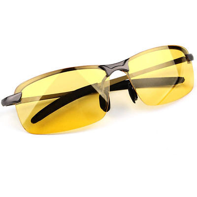 HD Night Driving Glasses Anti Glare Vision Polarized Yellow Lens Tinted Unisex