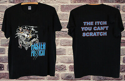 """FASTER PUSSYCAT /""""THE ITCH YOU CAN/'T SCRATCH TOUR /'87-/'88/"""" Shirt Best Reprint New"""