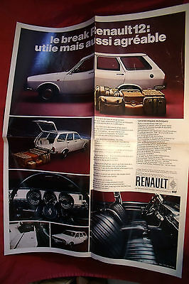 Renault 12 Break + Game 1971 , Depliant Publicitaire