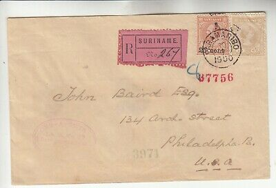 Suriname Registered 1900 Cover