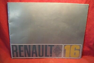 Renault 16 , Catalogue Publicitaire
