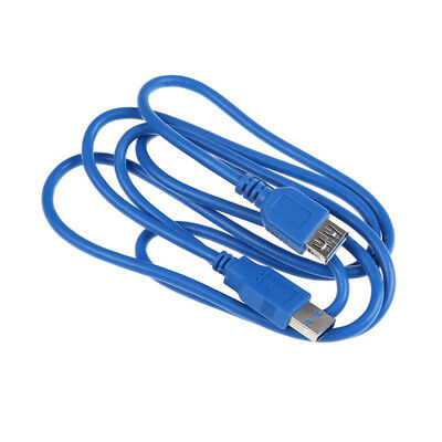 Brand New 5ft 1.5m USB 3.0 A Male to A Female Data Extension Cable Blue S!