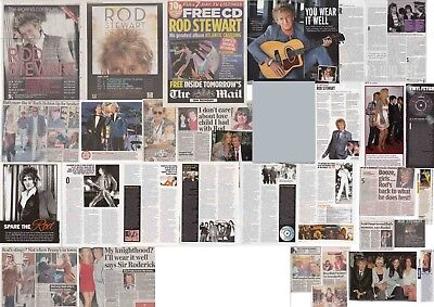 ROD STEWART : CUTTINGS COLLECTION -interviews adverts etc-
