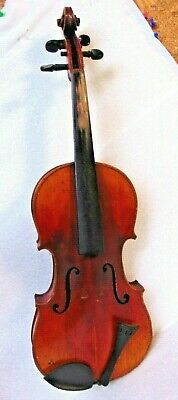 ANTIQUE vintage wood VIOLIN FIDDLE string music HEINZEL GERMANY classic country