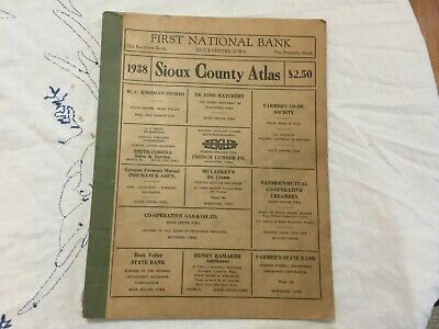 Vintage 1938 Sioux County, Iowa Atlas 23 Pages