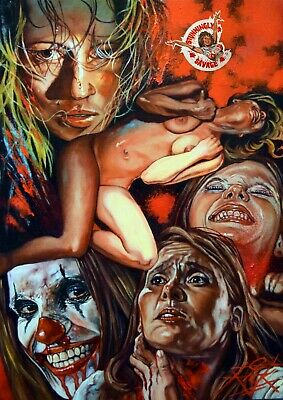 Masks / Poster And Dvd Cover Artwork / Original Oil Painting By Rick Melton