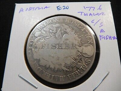 E20 Austria 1776 Thaler Counterstamped A. Fisheries