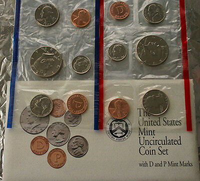 1992 P and D Annual US Mint Uncirculated 10 Coin Set