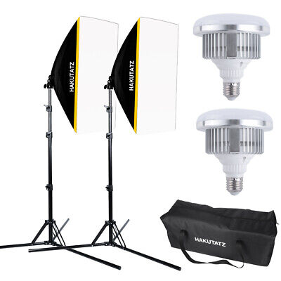 LED Softbox Kit Éclairage Photo Video Studio avec 50*70cm Softbox 5500K