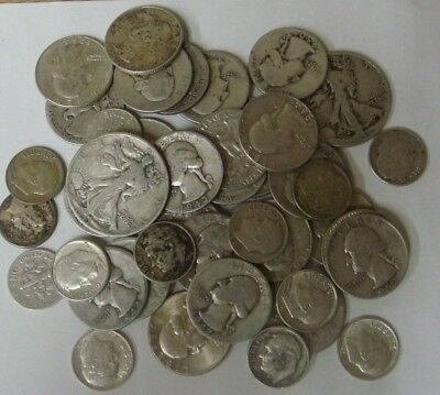✯1 oz OUNCE 90% SILVER U.S. COINS✯ ESTATE SALE LOT HOARD 1964 & before lot 66