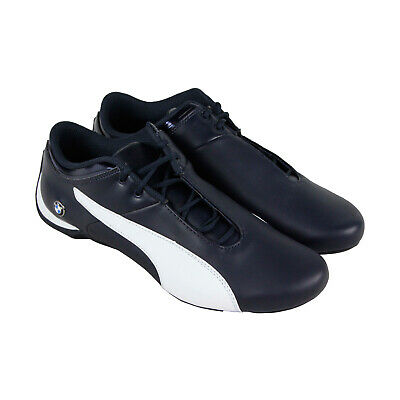 Puma Bmw Ms Future Cat Mens Blue Leather Athletic Lace Up Racing Shoes