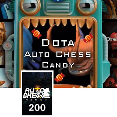 Dota2 AutoChess 200 Candy CDKEY Dota 2 Auto Chess Candy 200 ::Fast Delivery::