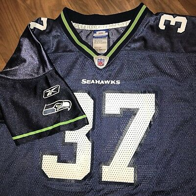 3ae601c7563 Navy Reebok SEATTLE SEAHAWKS Shaun Alexander YOUTH XL vtg NFL Football  Jersey XS
