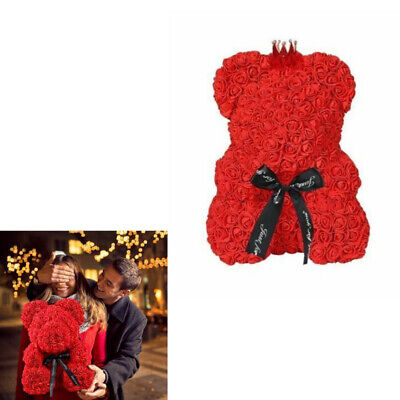25cm Red Rose Bear Flowers Wedding Decoration Birthday Valentine's Day Cute Gift