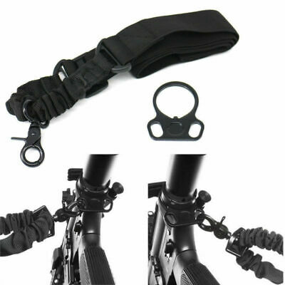US Tactical One Single Point Sling for Rifle Gun W/ Dual Plate Mount Adapter