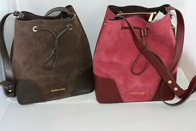 206e1c8164e9e MICHAEL MICHAEL KORS Cary Medium Bucket Bag - Coffee or Oxblood ...