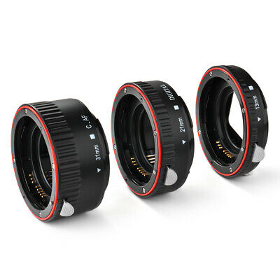 Macro Extension Tube Ring Auto Focus AF for Canon EOS Camera EF EF-S Lens DC731