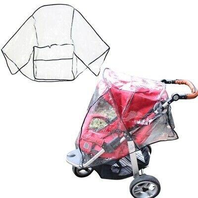 Universal Rain Cover Wind Shield Fit Most Strollers Buggy Pushchairs Waterproof