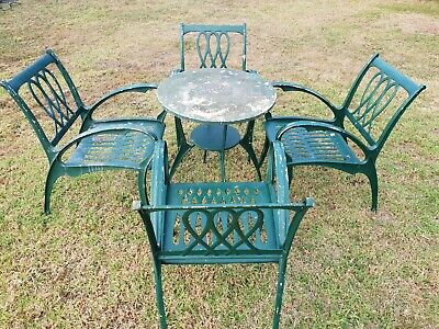 1970s Aluminium Patio Set