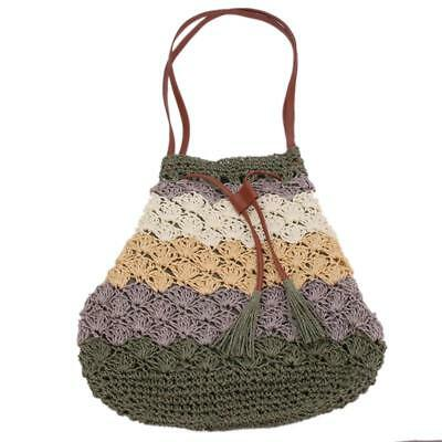Stylish Bohemian Straw Bag Beach Handbag Summer Rattan Bag BS