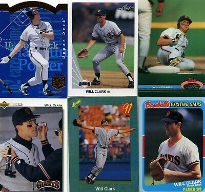 WILL CLARK Lot of 30+ (25+ Different) Baseball Cards San Francisco Giants