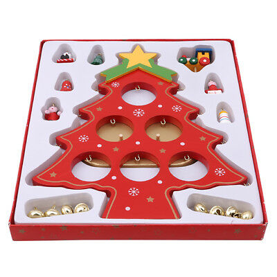 Christmas Diy Festival Tree Xmas Ornaments Table Desk Wooden Home Decor BS