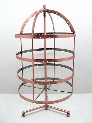1X New 4 Tiers Revolving 96 Pairs Earring Display Holder