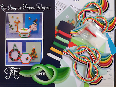 Quilling Kit for Christmas Cards and Boxes
