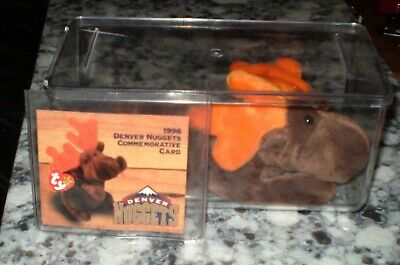 1998 Denver Nuggets Chocolate the Moose Ty Beanie Baby