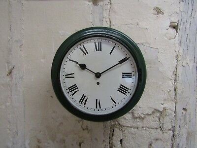 "Antique Mahogany Railway Wall Clock, 12"" Dial Fusee Vintage"