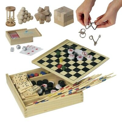 Wooden Board Games Brain Teasers IQ Challenge Puzzle Kids Game Toy Chess Dominos