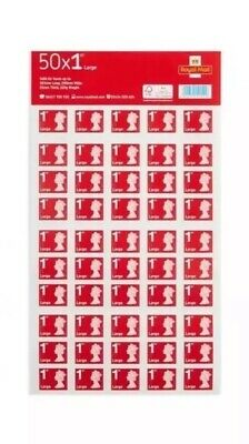 Royal Mail First Class Large Letter Self Adhesive Stamp Sheet 50 X 4