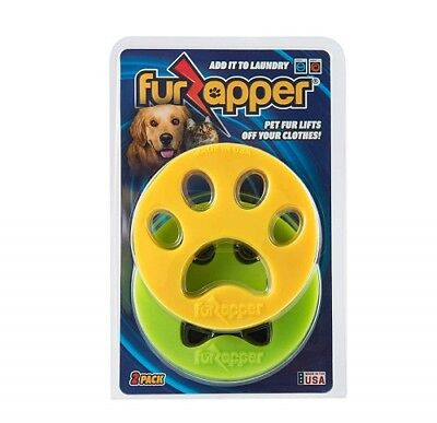 2-pack FURZAPPER DOG Fur CAT Hair Remover for your Laundry-Add to Washer & Dryer