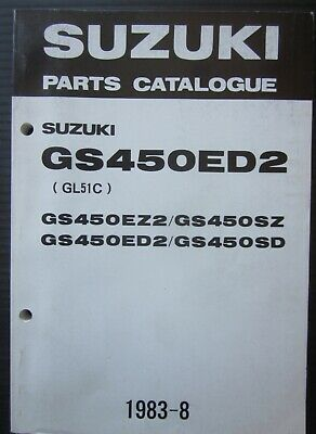 SUZUKI GS 450 EZ2 / SZ / ED2 / SD parts catalogue catalogo parti di ricambio