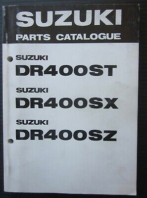 SUZUKI DR 400 ST / SX / SZ parts catalogue catalogo parti di ricambio originale
