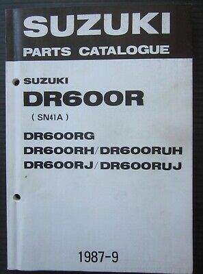 SUZUKI DR 600 RG / RH / RUH / RJ / RUJ parts catalogue catalogo parti ricambio