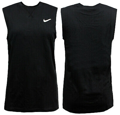 Nike Boys Training Tank Top Youths Junior Vest Black 404362 010 EE182