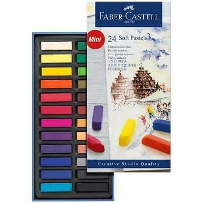 Faber Castell Box Of 24 Creative Studio Half-Stick Soft Art Pastels