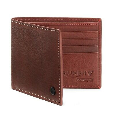 Genuine Triumph Motorcycles Leather Wallet Oxblood Burgundy Wallet Gift Box