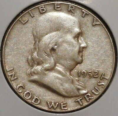 Franklin Half Dollar - 1952 - Historic Silver! - $1 Unlimited Shipping
