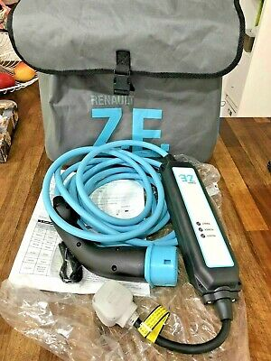 Genuine Brand New Unused Renault Zoe Uk 3 Pin Home Granny Lead Charging Cable