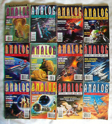 12 issue 1995 ANALOG Science Fiction And Fact magazine